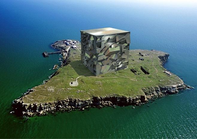 Степан Рябченко — архитектурный проект на острове Змеиный «Куб Ахилла»