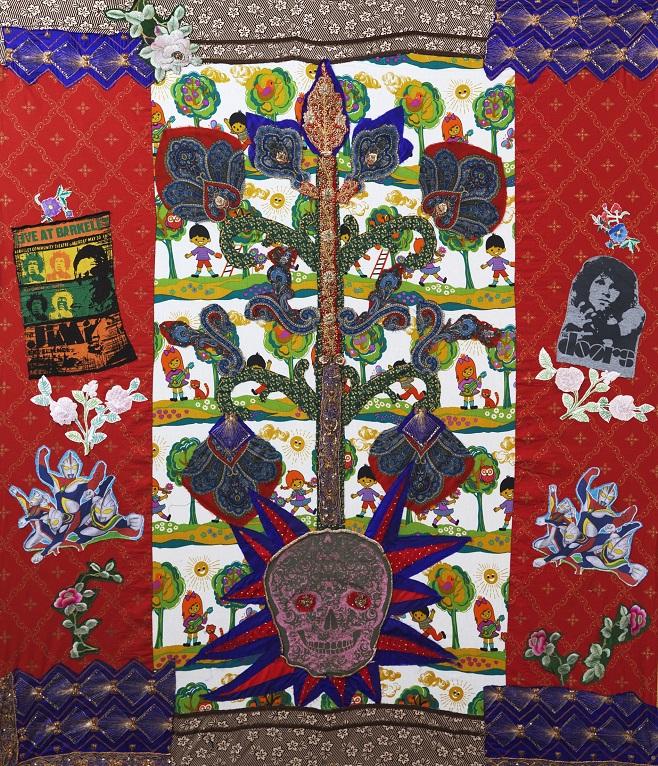 Анастасия Подервянская -Адамово дерево/ Текстиль, вышивка, коллаж