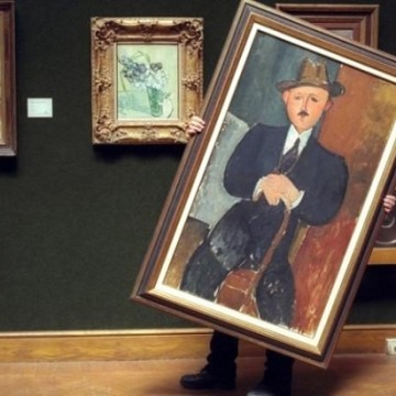 Амедео Модильяни. Сидящий мужчина с тростью. 1918. Фото: telegraph.co.uk