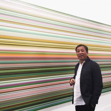 Лю Іцянь, на придбаної роботи. Фото: Liu Yiqian via WeChat