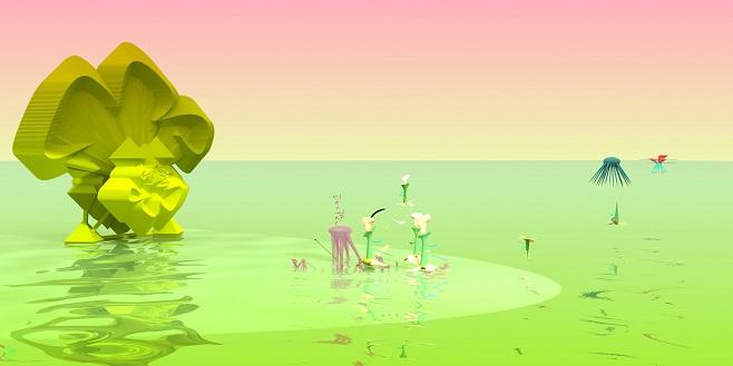 Медонос. 150 x 300 см, цифровая печать на алюминии, плексиглас / 2012