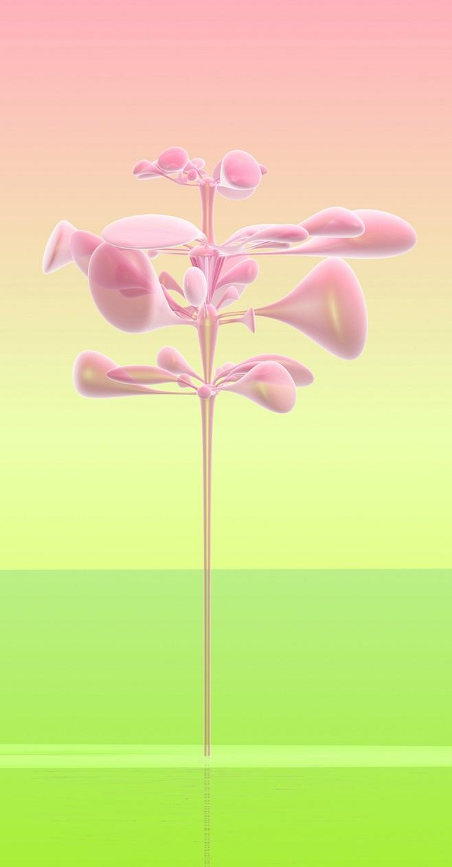 Раддар. Из серии Виртуальные цветы. 240 х 125 см, цифровая печать на алюминии, плексиглас / 2014 - 2016