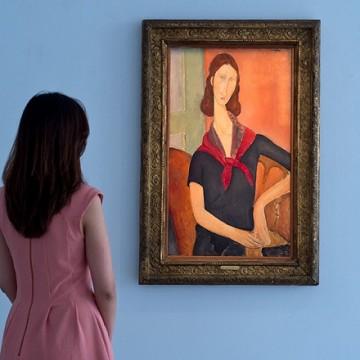 Амедео Модільяні портрет французької художниці та моделі Жанни Ебютерн. Фото: sothebys.com