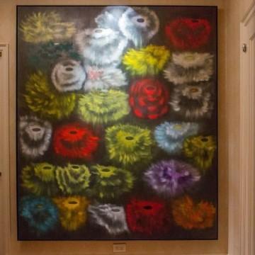 Картина Росса Блекнера, яку придбав Алек Болдуін, в Манхеттенському офісі актора
