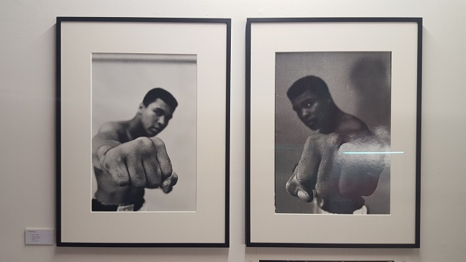 "Bildhalle, фотограф Thomas Hoepker ""Ali right fist"", Лондон, 1966"