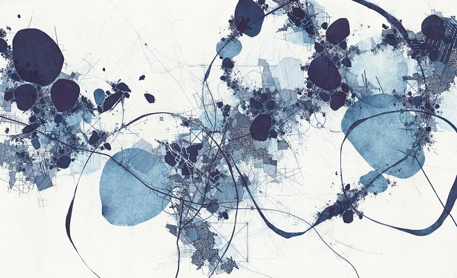 "работа художника Derek Lerner ""Asvirus 62"", 2016, галерея Robert Henry Сontemporary"