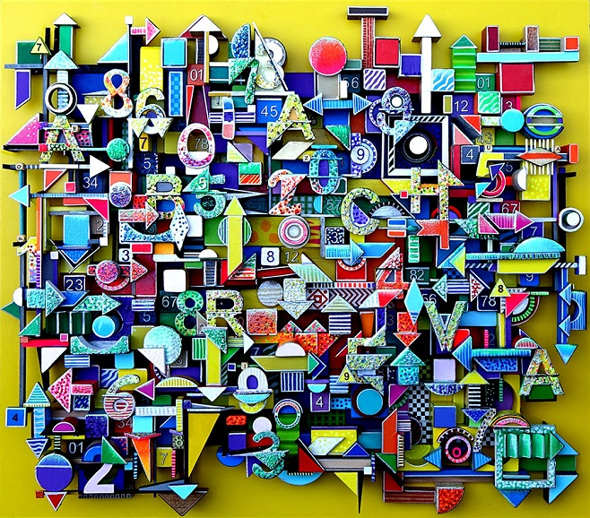 """художница  Marina Abracheva """"Typographie"""" (2016)"""