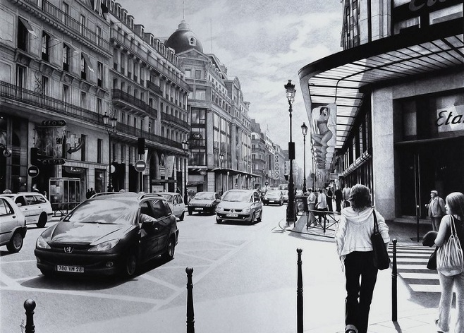 Ballpoint_pen_poletaev_art_Parisian_street