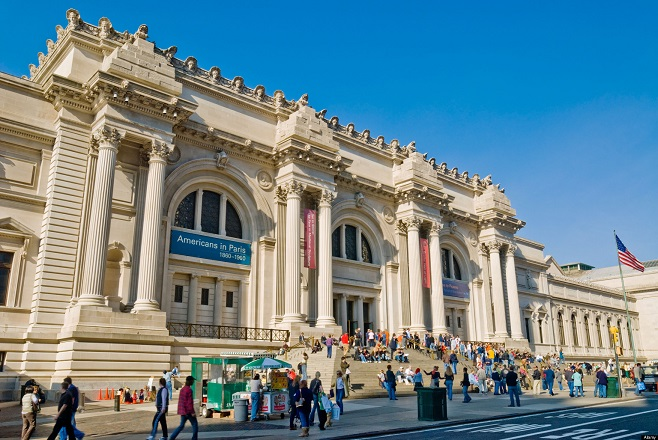 New York City, The Metropolitan Museum of Art. Main entrance exterior on Fifth Avenue.. Image shot 2006. Exact date unknown.
