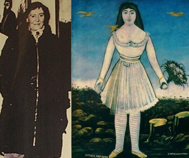 Маргарита де Севр в реальному житті і на картині Піросмані «Актриса Маргарита»