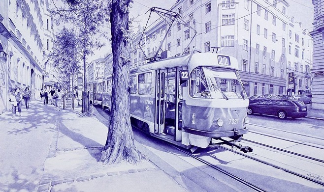 ballpoint_pen_drawing_poletaev_art_moment_in_Prague