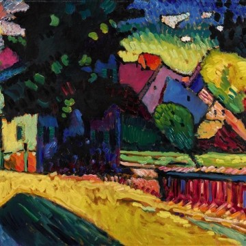 Картина Василя Кандинського «Мурнау – пейзаж із зеленим будинком», 1909 / Фото: sothebys.com