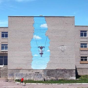 Julien Malland, Попаснянська гойдалка / Фото: Mural Social Club