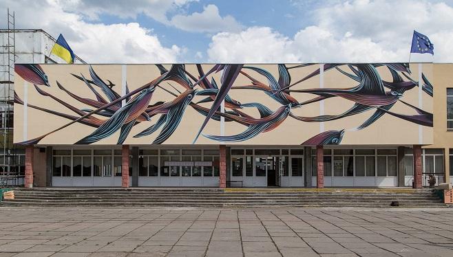 Мурал Pantónio у Черкасах / Фото: Олександр Ратушняк
