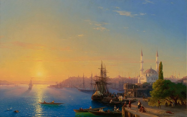 Іван Айвазовський «Вид Константинополя і Босфору», 1856 / Фото: sothebys.com