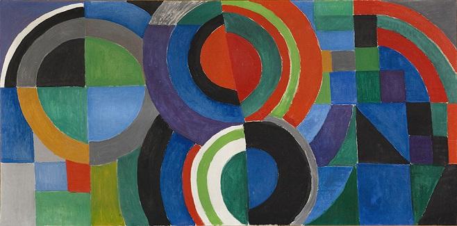 """Sonia Delaunay (1885-1979). """"Rythme couleur"""". Huile sur toile. 1964. Paris, musée d'Art moderne."""