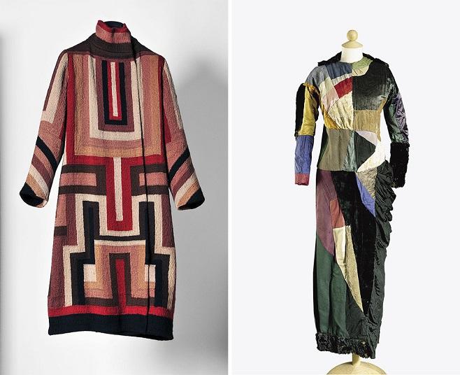 Пальто для Глорії Свенсон, 1925 | Сукня у стилі «сімультантізм», 1913