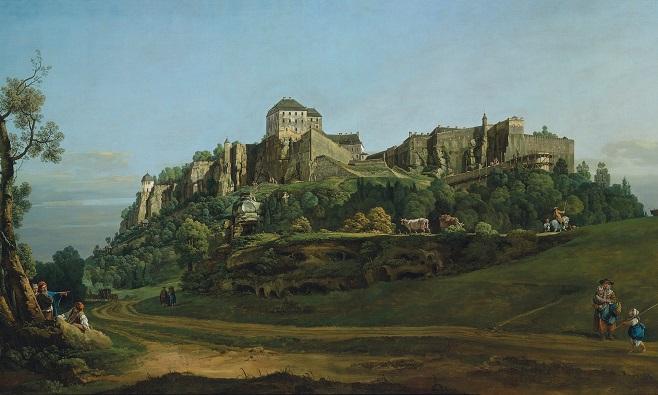 Бернардо Беллото, «Фортеця Кьонігштайн, вид з півночі» (1756-58)