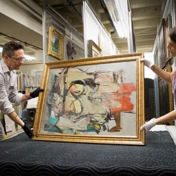 Знайдена картина Віллема де Кунінга, Woman-Ochre (1954-1955) / Фото: University of Arizona