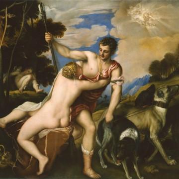 """Веччеліо Тіціан """"Венера і Адоніс"""". Середина 1540-х років"""