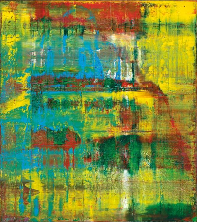 Картина Герхарда Ріхтера «Abstraktes Bild, 809-2», яку пошкодили при авіаперевезенні / Фото: Christie's