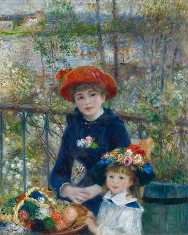 П'єр-Огюст Ренуар, дві сестри (на терасі) (1881). Фото: Wikimedia Commons