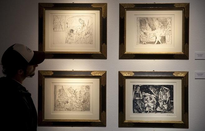 Графічні роботи Пікассо / Фото: EPA/David Aguilar
