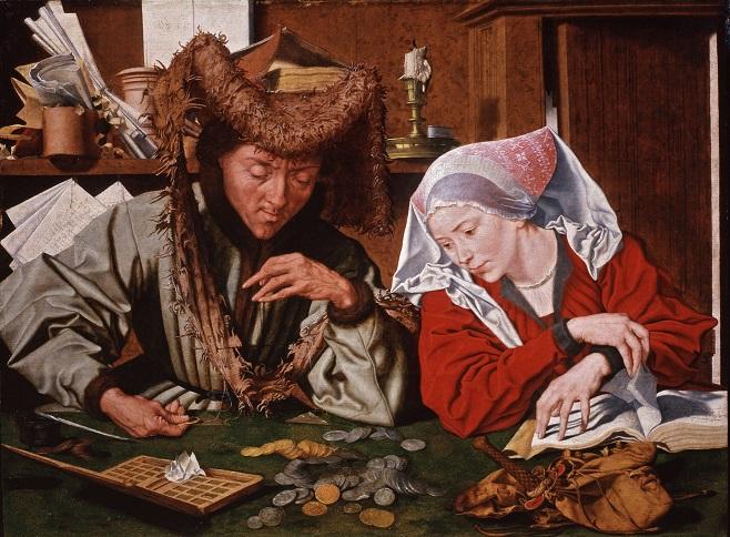 Марінус ван Реймерсвале, «Податковий інспектор та його дружина», 1540 рр