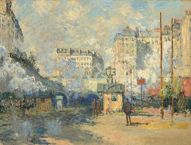 Клод Моне - «Вид на вокзал Сан-Лазар в променях сонця», 1877
