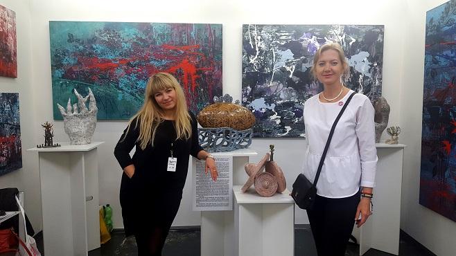 Таня Василенко та Олеся Дворак-Галік на Berlin Art Week