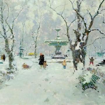 Сергій Шишко, Парк взимку. 1960