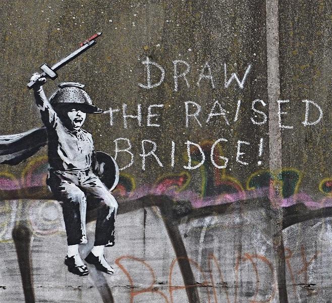 """Нове графіті Бенксі, """"Draw the Raised Bridge"""" / Фото: instagram.com/banksy"""
