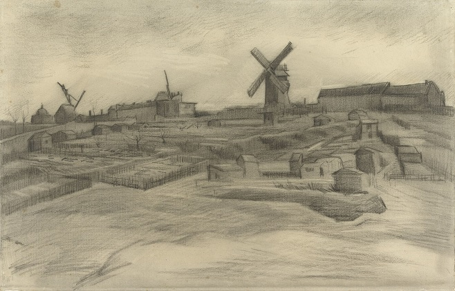 """Малюнок Ван Гога під назвою """"Гора Монмартру"""", 1886, який було ідентифіковано за допомогою першого / Фото: AP"""