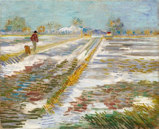 "Вінсент ван Гог, ""Пейзаж зі снігом"", 1888 / Фото: guggenheim.org"