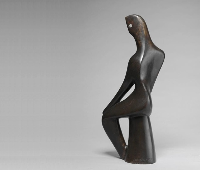Олександр Архипенко, Seated Black. Скульптуру продано на аукціоні Sotheby's у 2017 році за £ 848 750