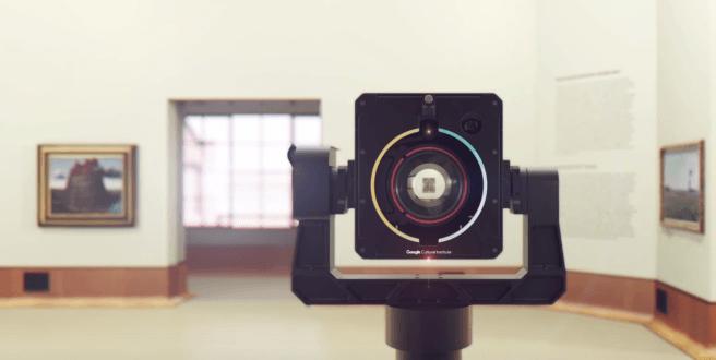 Гігапіксельна роботизована Аrt Сamera, створена для оцифровки творів мистецтва спеціально для інституту культури Google. Фото: Google Arts and Culture