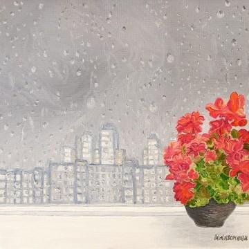 Ірина Акімова, Дощ. Цикл «Гроза над містом». 2016