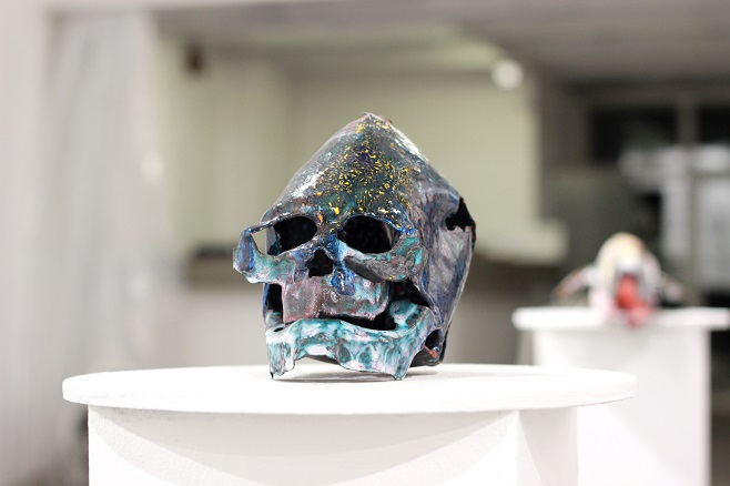 "Serhii Lykhovyd, ""Martian"". Steel. Baking enamel / Photo: artslooker.com"