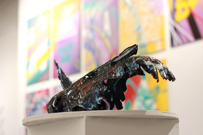 "Serhii Lykhovyd, ""Unicorn"". Steel. Baking enamel / Photo: artslooker.com"