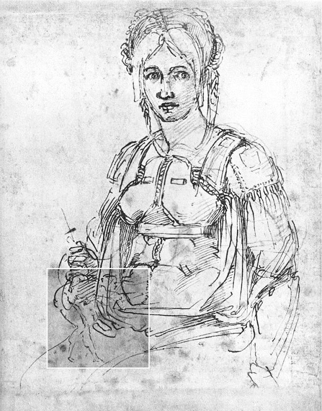 Робота Мікеланджело, на якій виявлено його портрет / Фото: Public domain