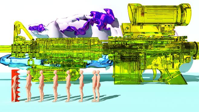 Фрагмент відео-проекту Володимира Когута «Artificial intelligence – Mimicry»