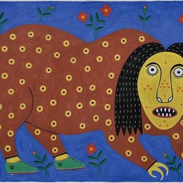 Примаченко Марія (1908-1997) «Звер задаєця своим чубом», 1993