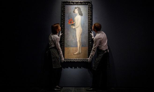 Пабло Пікассо «Дівчина з квітковим кошиком», 1905 / Фото: Tolga Akmen/EPA