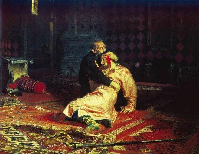 Ілля Рєпін, Іван Грозний і син його Іван 16 листопада 1581 року / wikipedia.org