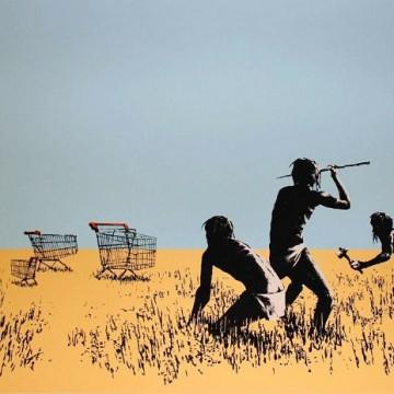 """Робота Бенксі, """"Trolley Hunter"""" / Фото: bbc.com"""
