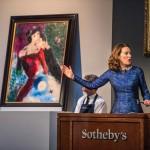 Картина Марка Шагала «Коханці» (Les Amoureux) / Фото: sothebys.com