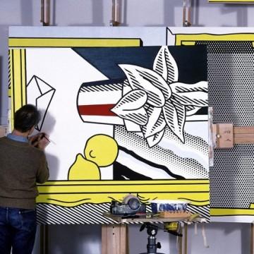 Рой Ліхтенштейн у своїй студії, Нью-Йорк, 1982 рік / Фото: lichtensteinfoundation.org