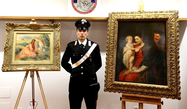 Повернуті картини Рубенса і Ренуара / Фото: milano.corriere.it