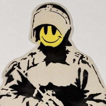 Фрагмент однієї з робіт Бенксі, що показують в Москві / Фото: instagram.com/banksy