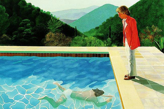 Робота Девіда Хокні «Басейн з двома фігурами» / bloomberg.com
